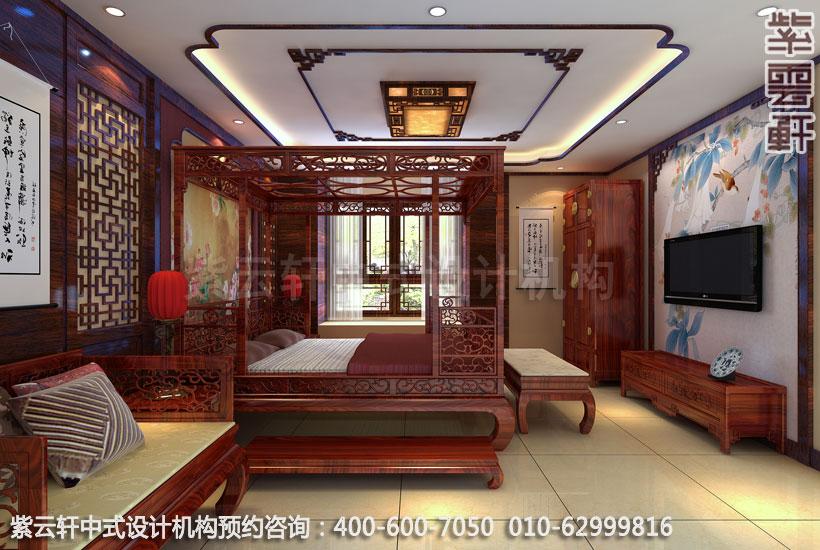 复式住宅卧室古典中式设计效果图