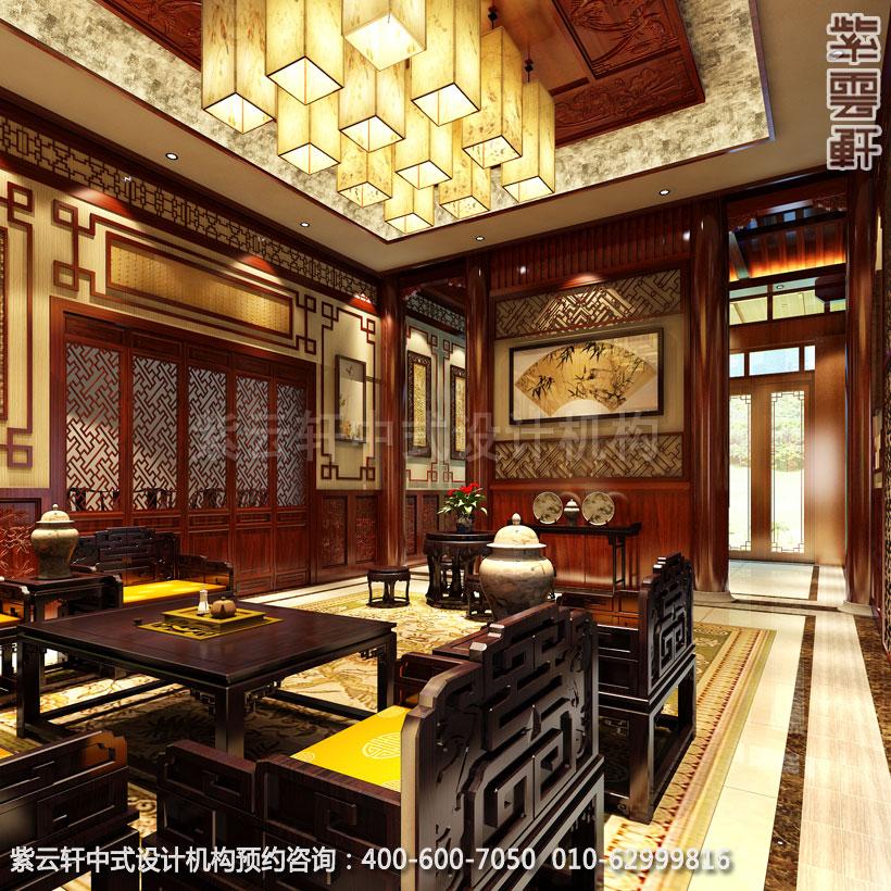 私人会所接待室古典中式设计效果图