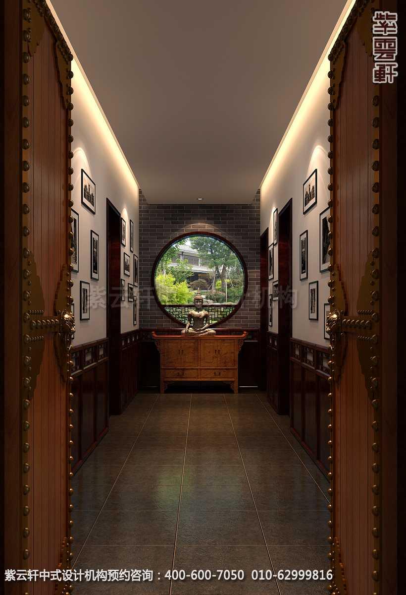 别墅过道古典中式设计效果图