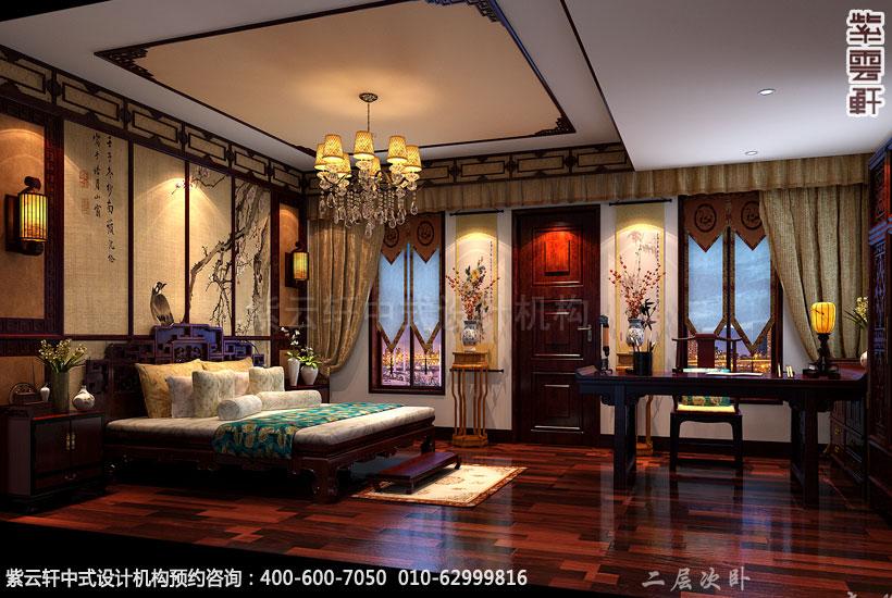 别墅次卧古典中式设计效果图