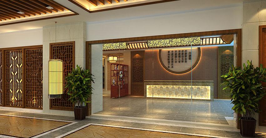玉锦湾茶餐厅简约中式设计效果图欣赏—清新简约