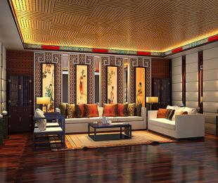 廊坊高端别墅现代中式设计装修案例―磅礴大气又无比清新自然