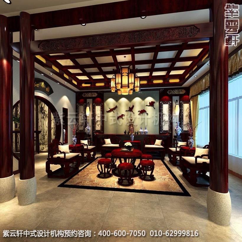 现代别墅新古典中式装修从四个方面着手设计