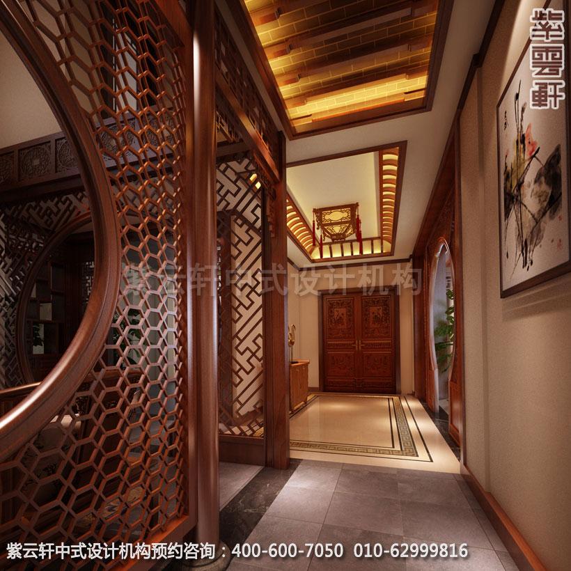 中式装修设计 让玄关更加有效的应用其原始价值
