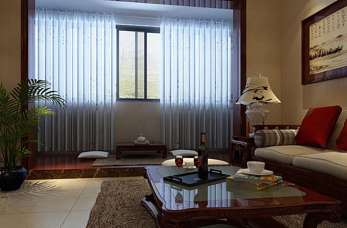 用中式风格窗帘营造出不一样的中式装修风情
