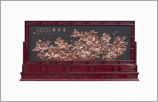 古典屏风的国画情缘,让中式装修空间层次尽显