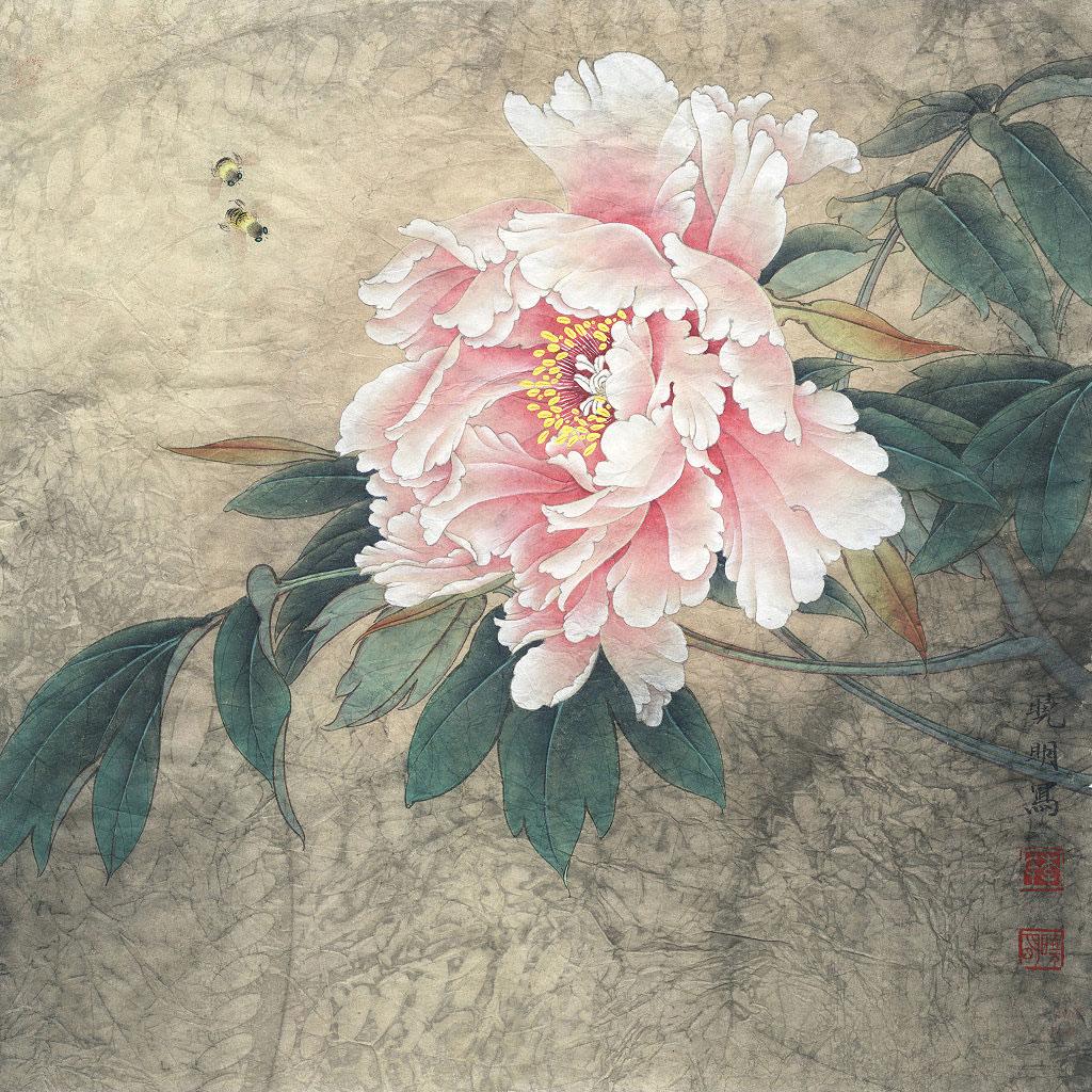 牡丹挂画为中式设计展现了雅境的富贵奢华