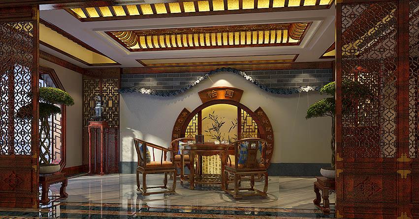 章总豪华别墅古典中式装修案例—恒古不变的柔情