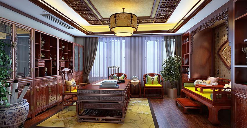 中式风格设计精品住宅北京怀柔顶楼王宅装修 古典化的温馨