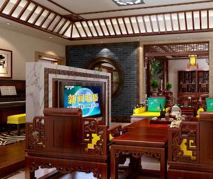 泰州别墅现代中式装修案例时尚大图―清旷灵秀之美