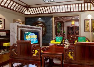 泰州别墅现代中式装修案例时尚大图—清旷灵秀之美