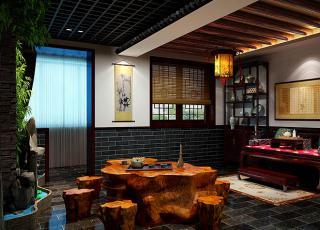 哈尔滨茶楼现代中式设计案例—平凡人生的静心参悟