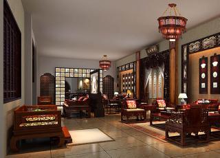 公装案例 宝德风红木馆新中式设计装修-浴火重生的新境界
