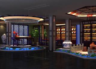 中式风格红古轩办公室会所案例—让心灵回归自然