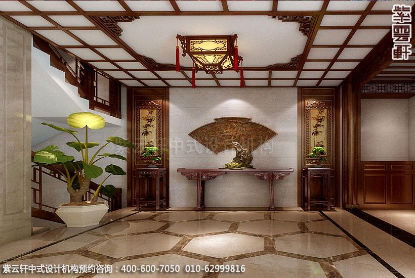 简约中式设计别墅门厅