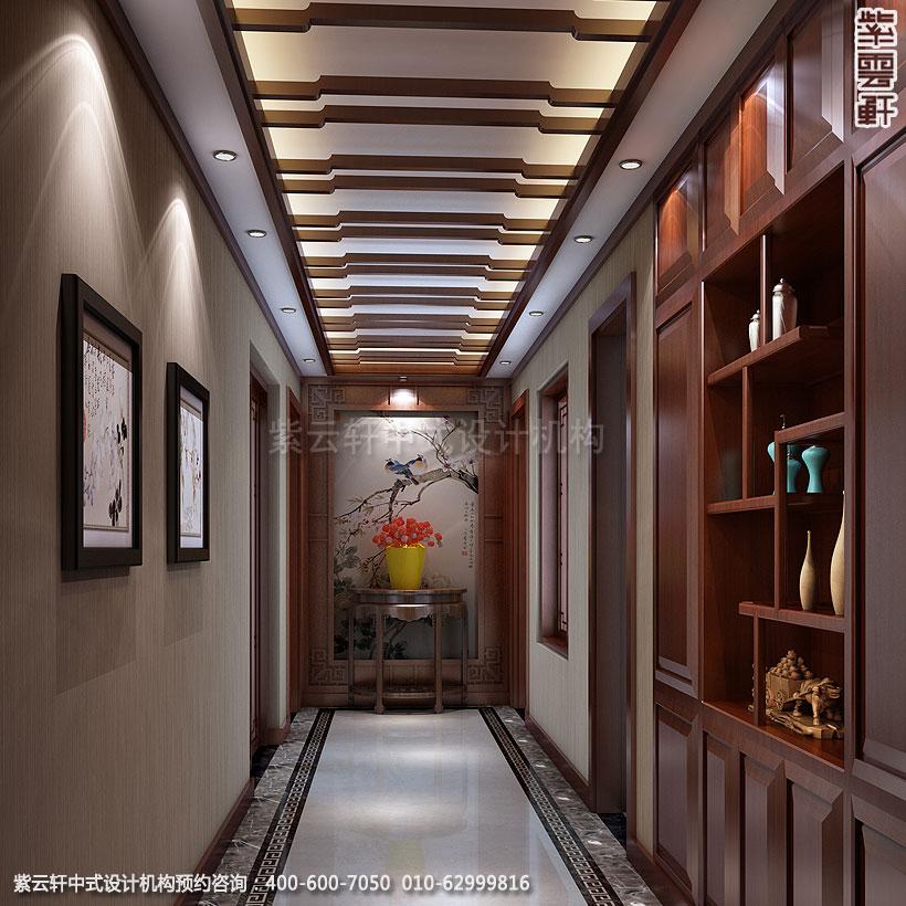 别墅过道简约中式设计