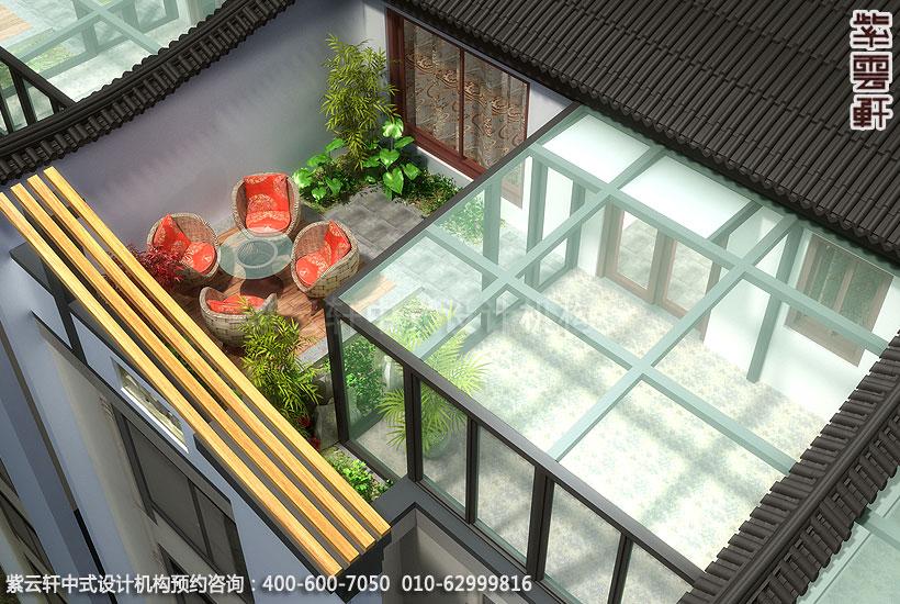 别墅阳台简约中式设计