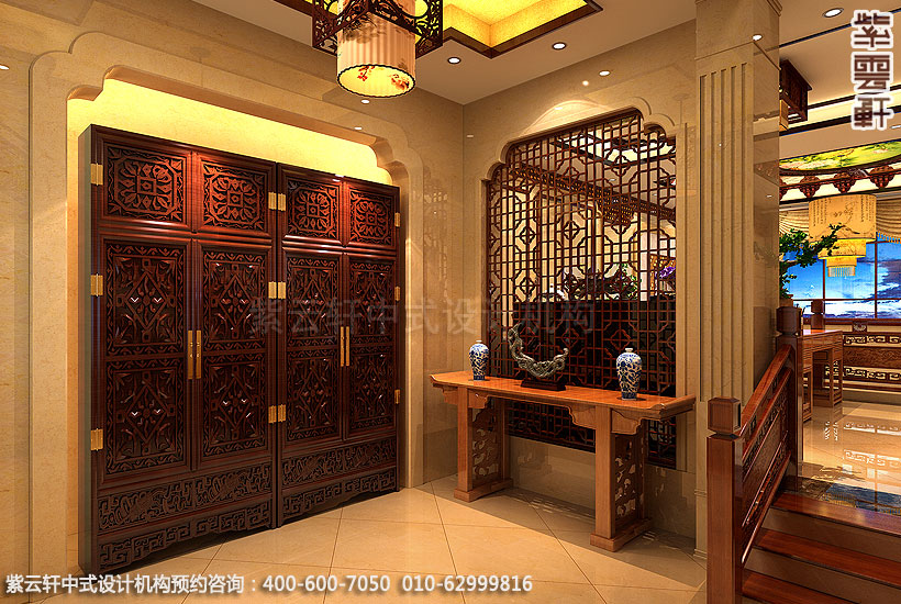 别墅现代中式装门厅