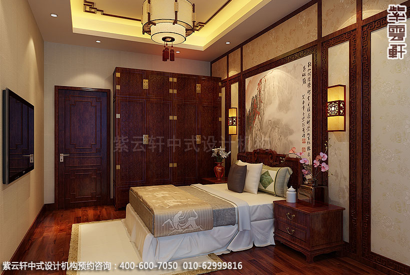 别墅现代中式装修老人房