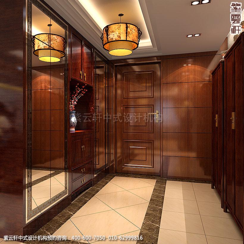 北京大兴别墅现代中式装修衣帽间