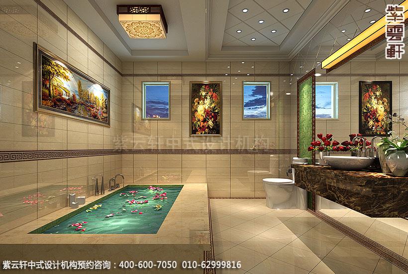 北京大兴别墅现代中式装修卫生间
