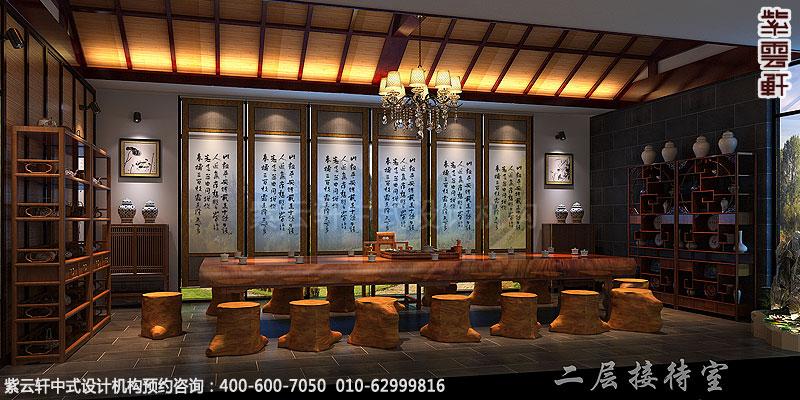 会所古典中式装修茶室