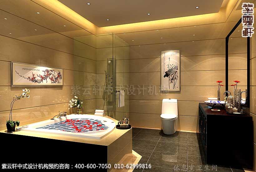 会所古典中式装修卫生间