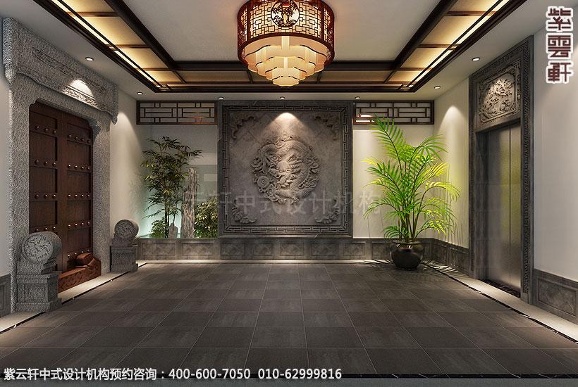 上海王公馆新中式会所装修门厅