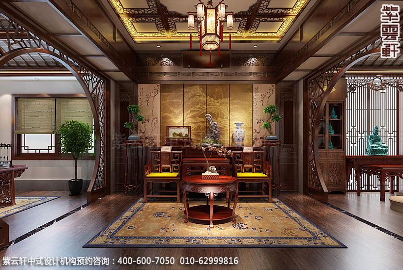 上海王公馆新中式会所装修中堂