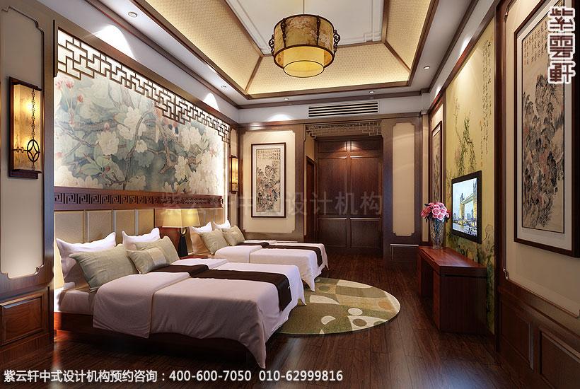 上海王公馆新中式会所装修客房