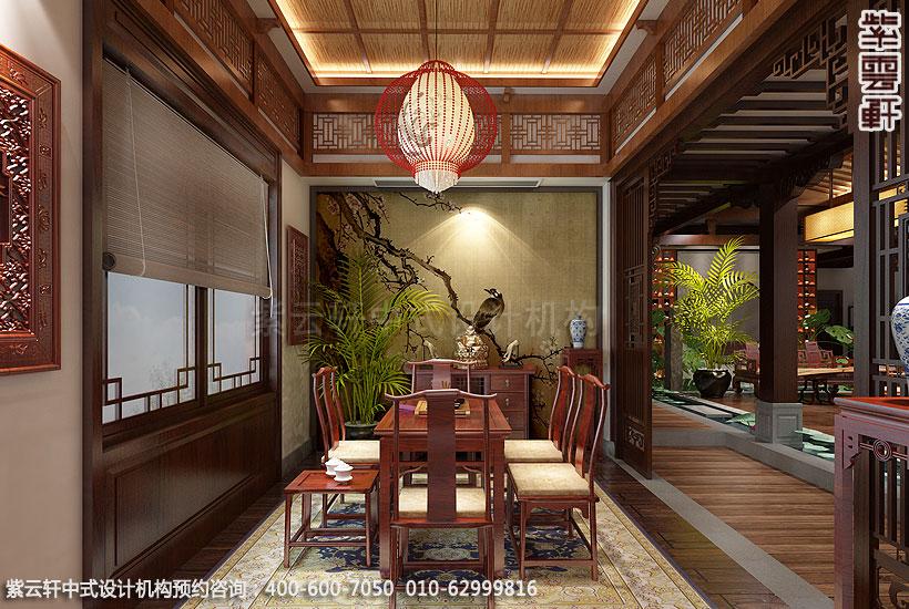 上海王公馆新中式会所装修茶室
