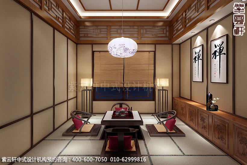 上海王公馆新中式会所装修和室