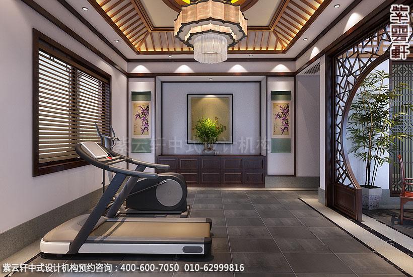 上海王公馆新中式会所装修健身房