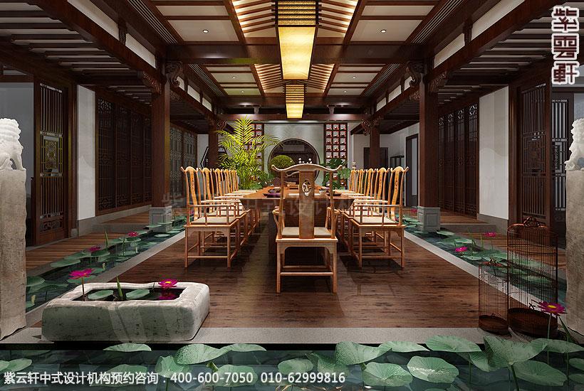 上海王公馆新中式会所装修中亭