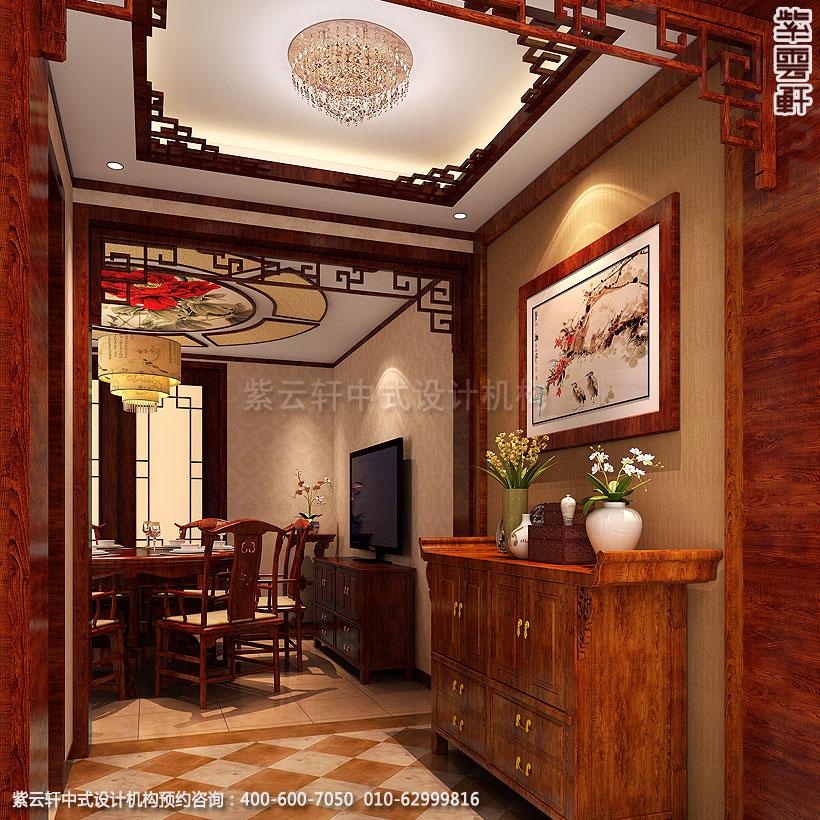 郑州简约中式复式住宅装修门厅