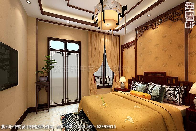 郑州简约中式复式住宅装修主卧