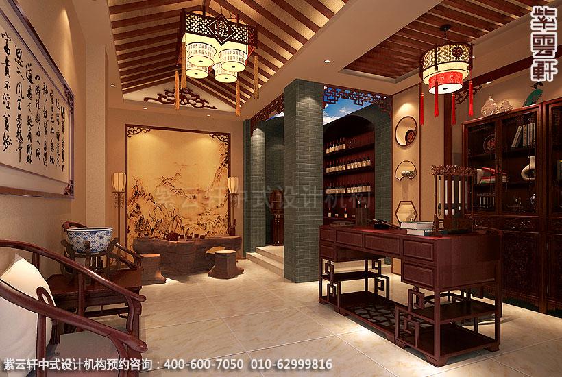 郑州简约中式复式住宅装修设计书房