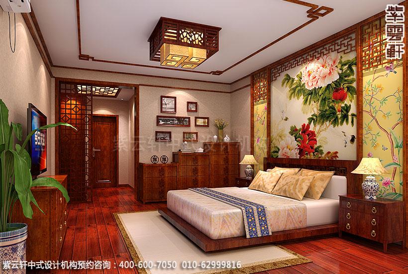 郑州简约中式复式住宅装修卧室