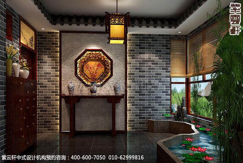 保定精品住宅古典中式装修门厅