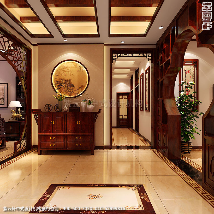 保定精品住宅古典中式装修过厅
