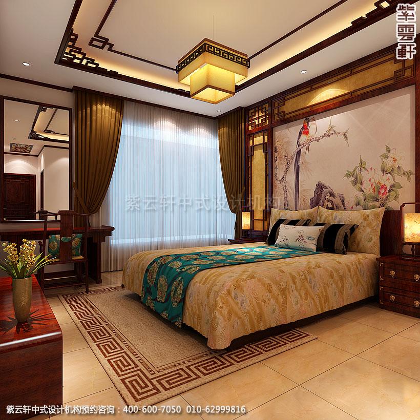 保定精品住宅古典中式装修主卧