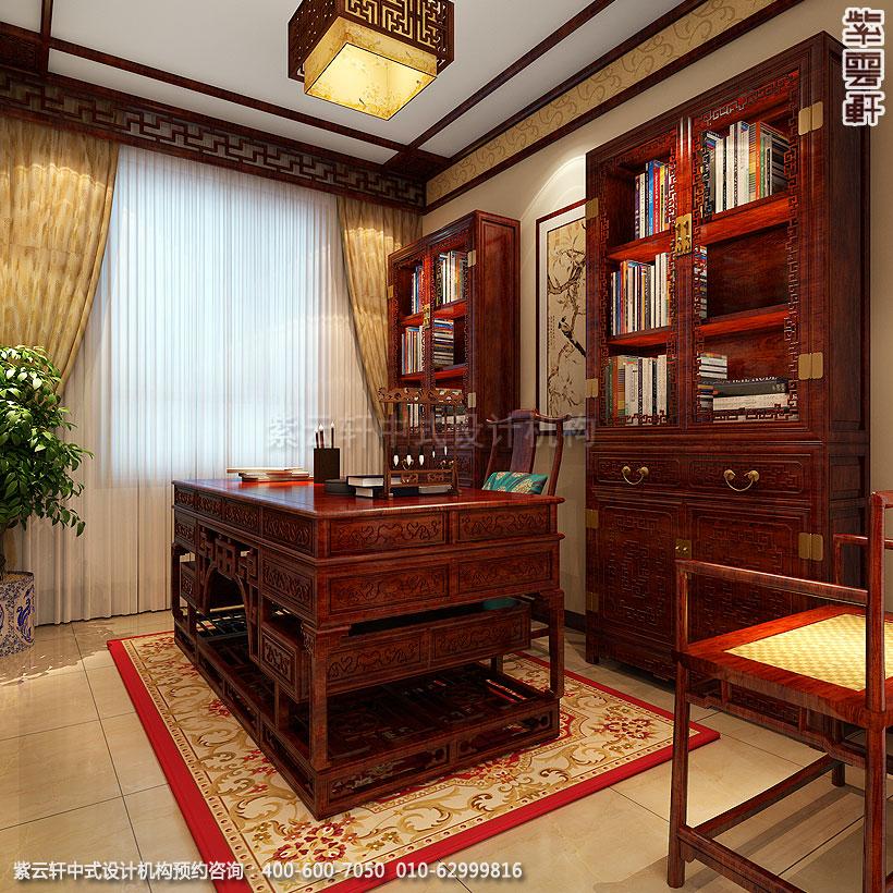 保定精品住宅古典中式装修书房