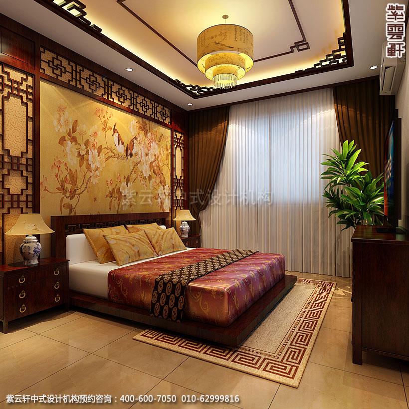 保定精品住宅古典中式装修客房