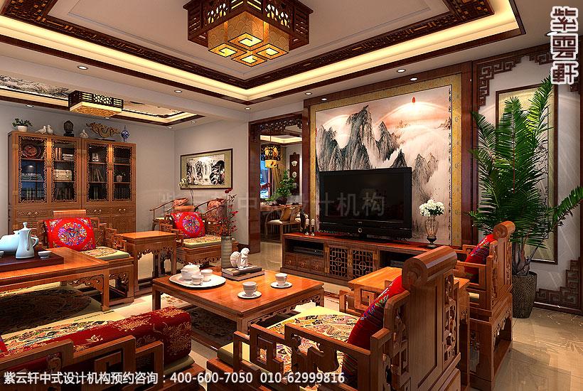 北京玉泉路曹先生精品住宅现代中式装修客厅
