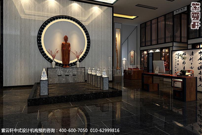 商务茶会所新中式装修门厅