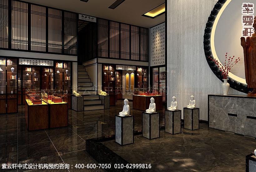 商务茶会所新中式装修大厅