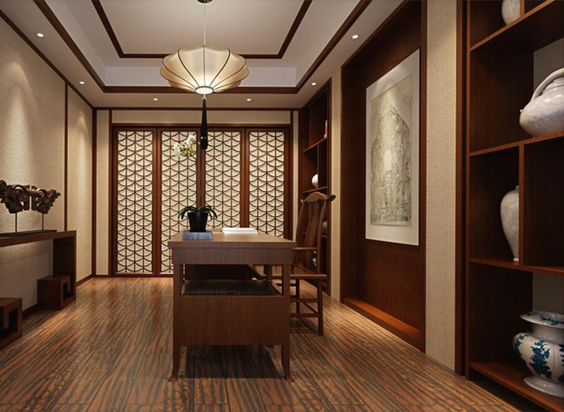 中式装修,书房