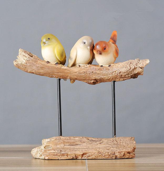 中式家居小鸟创意摆件 治愈灵魂的唯美时尚