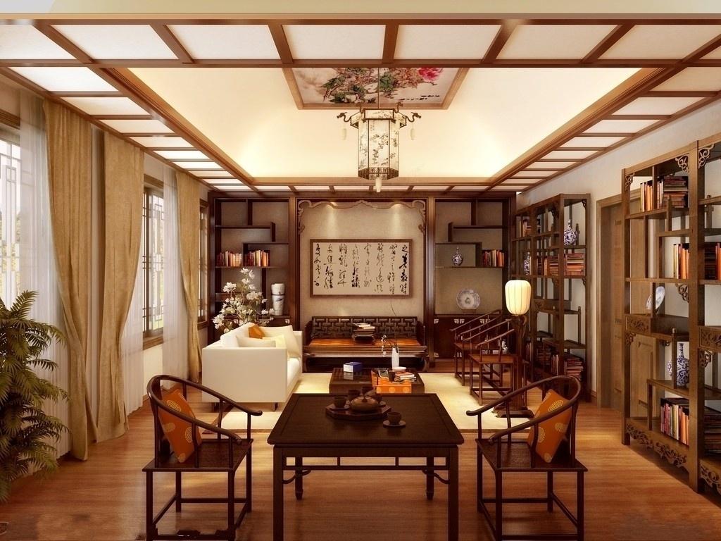 茶楼中式装修空间该如何选择植物来增加财运