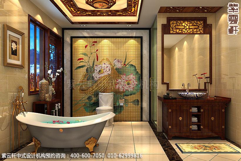 长沙古典中式装修别墅老人房卫生间